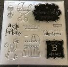 Close to My Heart CTMH My Acrylix stamp Set B is For Baby Baby Shower D1561