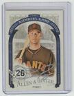 BUSTER POSEY Signed 2016 Topps Allen Ginter NUMBERS GAME Autograph ON CARD AUTO