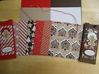 Stampin Up CANDY CANE LANE 6 x 6 Designer Card Kit GINGERBREAD MAN CHRISTMAS