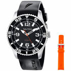 Nautica N11562G Men's NST 07 Black/Orange Band Black Dial Watch