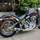 DD 21 Chrome Bobcat Full Exhaust System Carbon Sleeve Harley Softail 1984 17