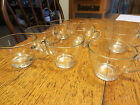 8 Vint EXC Molded Clear Glass Crystal Punch Cups Coffee Tea Custard Espresso