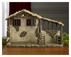 Christmas Nativity Lighted Stable 10 Inch