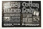 1919 Magazine Silent Movie Ad Blind Lover Lucy Cotton Aywon Film Corp New York