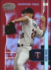 2003 TWINS Leaf Certified Materials Mirror Red 103 Brad Radke 100