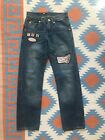 Dsquared2 Vintage Always Fresh Designer Patch Low Waist Jeans Womens MenS 27