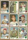 1973 TOPPS BASEBALL CARDS LOT YOU U PICK ANY 10 PICKS VG EX NM COMPLETE YOUR SET