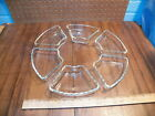 ANCHOR HOCKING EARLY AMERICAN PRESCUT Lazy Susan Replacement Inserts Set of 6