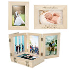 Personalised Engraved Unfinished Wood Photo Frame DIY Picture Love Memorial Gift