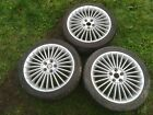 Jaguar 18 Turbine alloy wheels tyres