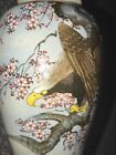 Vintage Satsuma Type Signed Vase Eagle