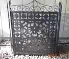 WROUGHT IRON THREE PANEL FIREPLACE SCREEN beautiful scrollwork throughout