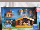 Fisher Price Little People Childrens Nativity Set Manger Jesus Shepherd Animals