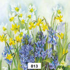 813 TWO Individual Paper Luncheon Decoupage Napkins FLOWERS DAFFODIL SPRING