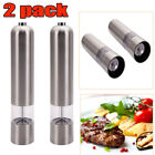 2XBattery Operated Automatic Mills Electric Salt Spice Pepper Herb Mills Grinder