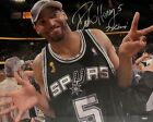 Robert Horry Signed Autographed 22x32 Stretched Canvas San Antonio Spurs UDA
