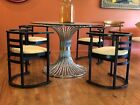 4 Vintage Mid Century Deco Modern Terence Conran Habitat Bentwood Chairs