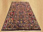 Amazing Hand Knotted Afghan Aksi Balouch Pictorial Wool Area Rug 6 x 4 FT (7449)