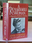 A Remarkable Woman by Anne Edwards Signed by Katharine Hepburn Biography 1st Dj