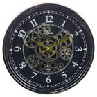 Large Wall Clock Rotating Gears Cogs Metal Novelty Antique Vintage Skeleton