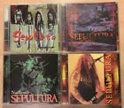 Sepultura 1990's Live Bootleg CD Lot Of 4 Rare CD's Classic Sepultura W/ Max