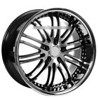 Set4 20 XIX Wheels X23 Black Machine with SS Lip Rims FS