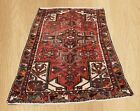 Authentic Hand Knotted Vintage Persian Abshar Wool Area Rug 6 x 3 FT (6865)