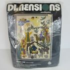 Vintage Dimensions Needlepoint Kit Christmas Nativity Scene 2070 18x24 1977