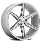 4New 22 Staggered KMC Wheels KM711 Prism Brushed Silver Rims FS