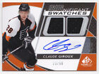 08-09 SP Game Used Claude Giroux 50 Auto Jersey SIGnificant Swatches Flyers 2008