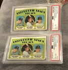 Four 1972 Topps Carlton Fisk Rookies Three Graded Plus One Off Grade Not Graded.