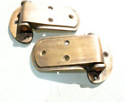 2 rare ICE BOX CATCH 2 HINGES aged style solid Brass heavy offset 4