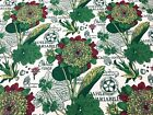 Waverly Floral Print Green White Drapery Upholstery Fabric BTY