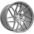 4pcs 19 Staggered Rohana Wheels RFX7 Brush Titanium Rims FS