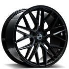 QTY4 20 Staggered Sporza Wheels Cydonia Gloss Black Concave Rims