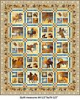 Mustang Sunset Quilt Kit by Quilting Treasures 64x76 Cream colorway