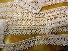 VINTAGE NOS 1 2 WIDE WHITE COTTON CLUNY BORDER LACE 5 YDS 500 dolls