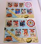 1990 91 UPPER DECK ALL STAR GAME SHEET RARE 2 DIF W WAYNE GRETZKY PATRICK ROY