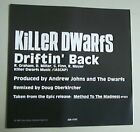 KILLER DWARFS DRIFTIN BACK CD SINGLE 1 TRACK PROMO + P/S USA
