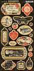 Graphic45 LOVE NOTES 23PCS Chipboard scrapbooking ROMANCE MUSIC ROSES LOVE