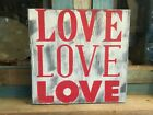 Distressed Wood Sign Love Board Valentines Day Or Any Time Country Primitive