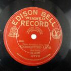 78rpm DE BUSSE unrequited love pietro returned EDISON BELL RECORD 4776