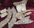Antique Lot Italian Venetian Rose Point Needle Lace*Collars*Cuffs*Inserts