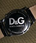 Dolce & Gabbana Stainless Steel Black Leather Analog Watch Used