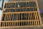 Antique HAMILTON MFG CO WOOD Chest PRINTER'S LETTERPRESS Wood TYPE SET CABINET