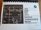 1993 BMW 850 I Electrical troubleshooting Service Manual E 31 8 Series new