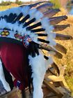 Native American Chief Indian headdress feather war bonnet one size adjustable