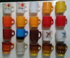 20 Vintage Fire King Anchor Hocking Colored Milk Glass Coffee Mugs Cups