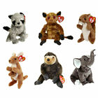 TY Beanie Babies - WILD ANIMALS (Set of 6)(Bandito, Gizmo, Nuts, Pouch, Trumpet+