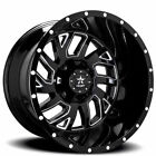 4Rims 20x10 RBP Wheels 65R Glock Gloss Black Milled Off Road Rims